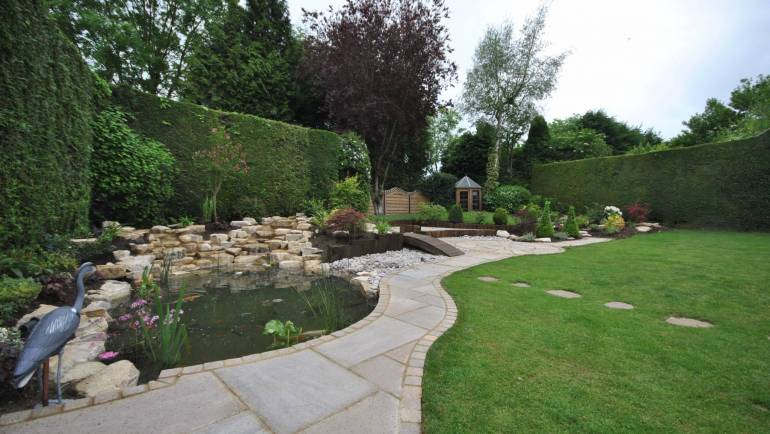 New Pond, Rockery and Landscaping