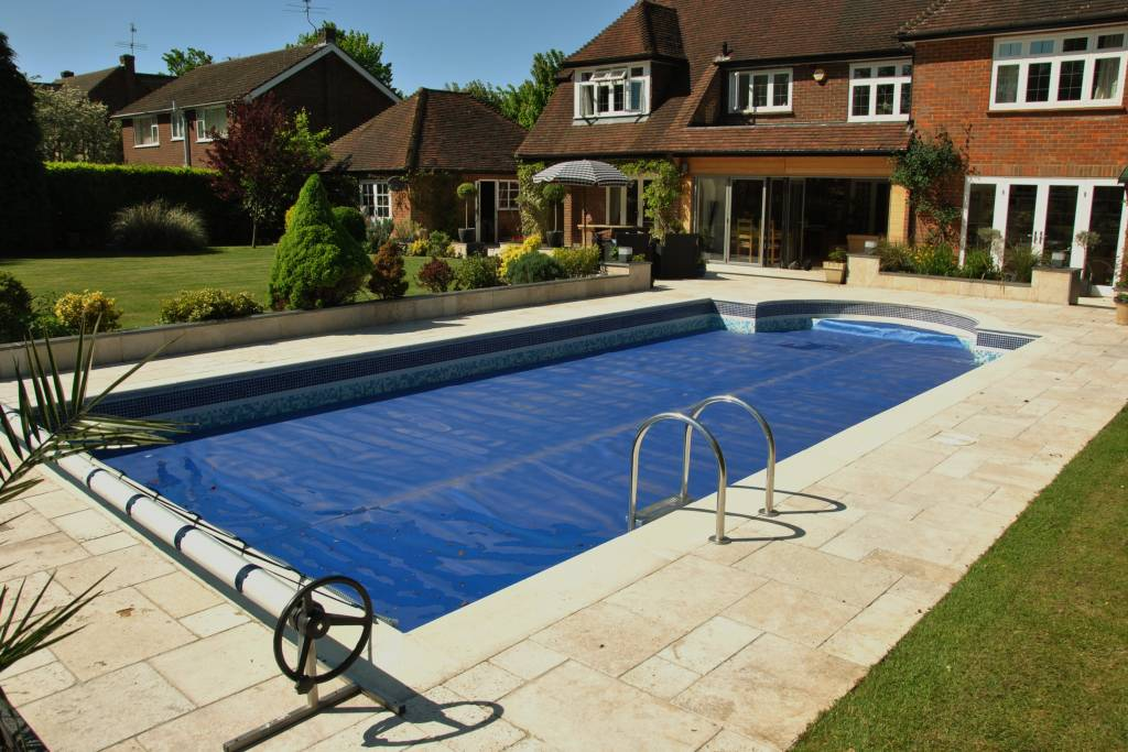 contemporary patio swimming pool surround