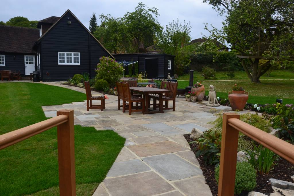 York patio seating area landscape